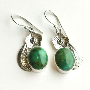 NWT Sterling Silver earrings genuine turquoise